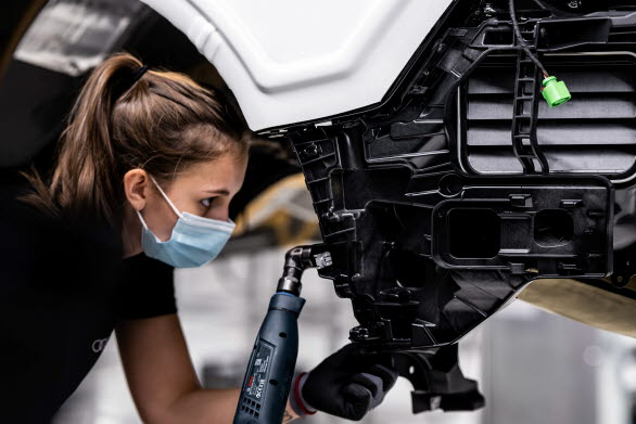 Vid monteringen av Audi e-tron GT