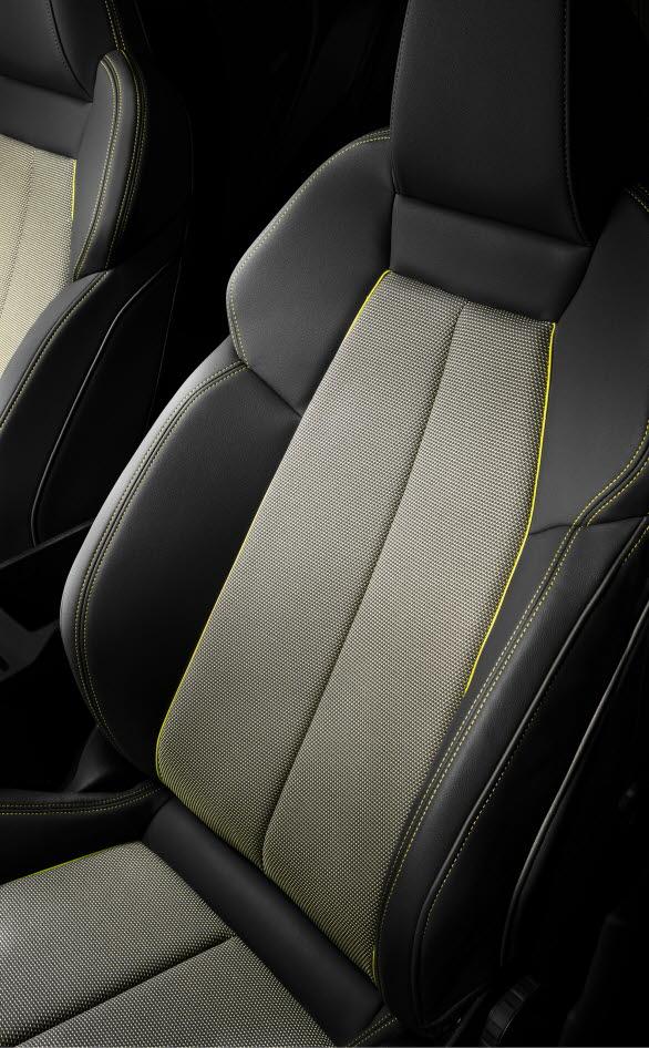 Sätesklädsel i nya Audi A3 av återvunna PET-flaskor