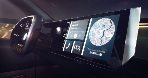 """I läget """"ID. Pilot"""" kan denna konceptbil från Volkswagen köra själv, utan ingrepp från föraren."""