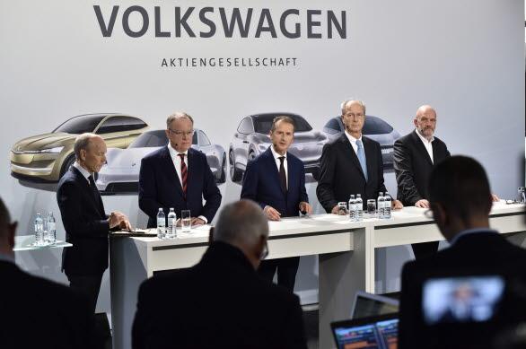 Presskonferens efter Volkswagen AG:s styrelsemöte