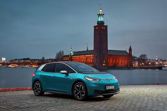 Kompakta ID.3 är den fjärde mest registrerade elbilen i Sverige under 2021.