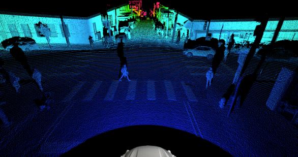 Det nya Argo lidarsystemet kan se 400 meter framför bilen och förutse vad fotgängare, cyklister och andra fordon kommer göra.
