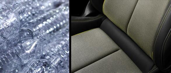 45 PET-flaskor omvandlas till klädsel i Audi A3 Sportback