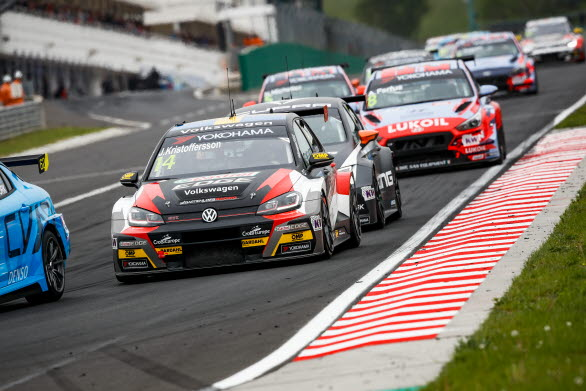 Johan Kristoffersson kvalade bra på lördagen och tog hem en åttondeplats i första racet på Hungaroring.