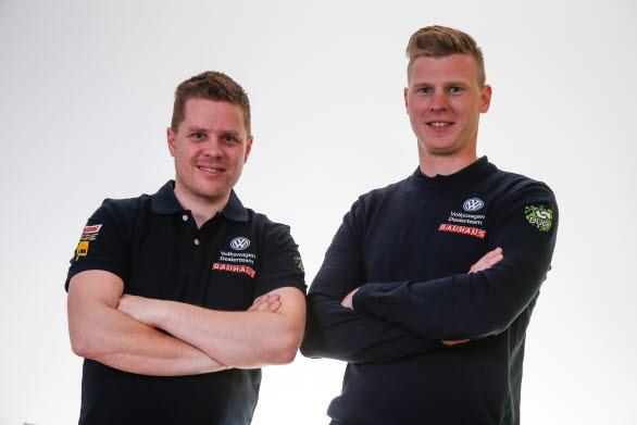 Kartläsaren Stig Rune Skjaermoen och föraren Johan Kristoffersson.