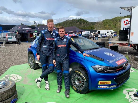 Johan Kristoffersson och co-drivern Stig Rune Skjaermoen går in i SM-deltävling nummer två som ledare i mästerskapet.