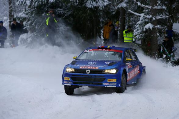 Johan Kristoffersson levererade en prickfri körning i Bergslagsrallyt.