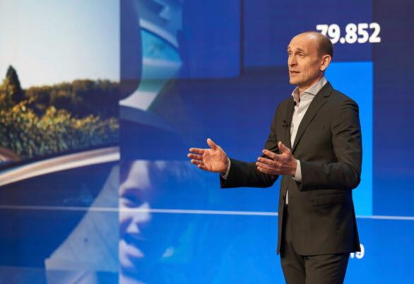 Ralf Brandstätter, VD för märket Volkswagen, under den digitala medieträffen den 17 mars.