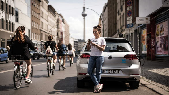 Vanessa är en av dem som redan har testat WeShare i Berlin.