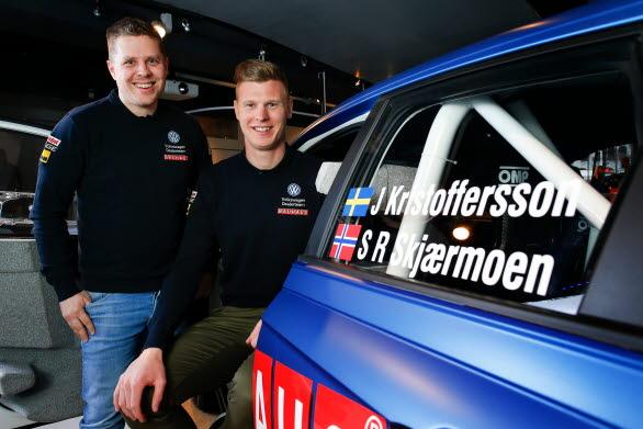 Ett nytt radarpar? Stig Rune Skjaermoen och Johan Kristoffersson ska kampera ihop hela rally-SM.