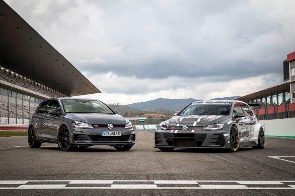Golf GTI TCR härrör från den framgångsrika racingbilen med samma namn.