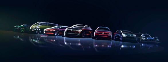 Volkswagens eldrivna ID.-familj består nu av sex konceptbilar och en tävlingsbil.