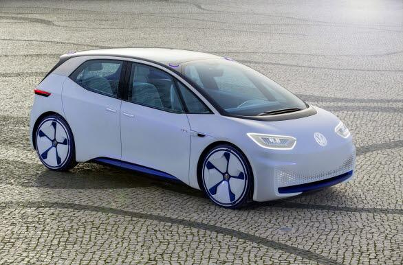 ID. är först ut i den nya generationen elbilar och gör entré på marknaden år 2020. Bilen på bilden är en konceptbil.