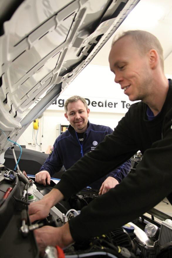 Volkswagen Dealerteam BAUHAUS kommer väl förberett till SM-premiären. Det lovar Kai Roger Waaler och Andreas Levin.