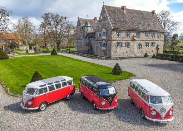 T1 Samba/Lyxbuss från 1962, 1954 och 1965