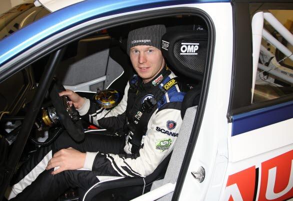 Johan Kristoffersson var mycket nöjd efter sina två första testdagar med den nya Volkswagen Polo R5:an.