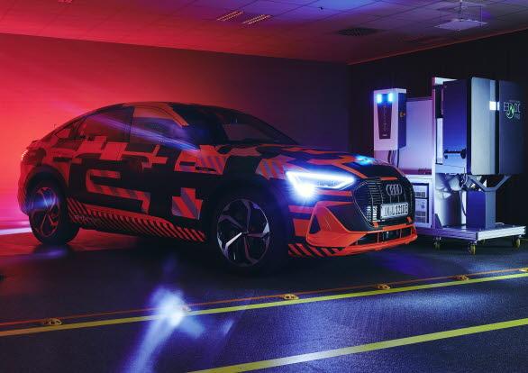 Audi forskar om bidirektionell laddning (V2H)