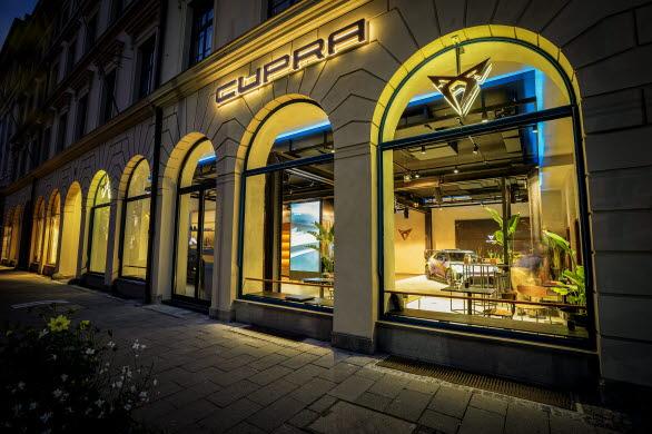 CUPRA har valt att öppna sitt senaste CUPRA City Garage på en unik plats i hjärtat av München.