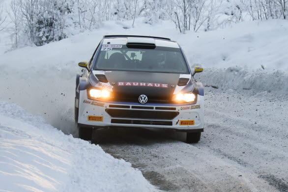 Johan Kristoffersson och co-drivern Stig Rune Skjaermoen gjorde en stabil insats i Finnskogsvalsen.