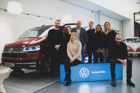 Abby Priest och marknadsteamet på Volkswagen Transportbilar. Foto: Martin Brusewitz