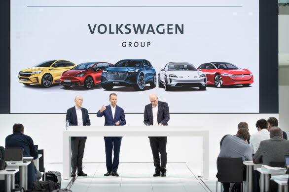 Volkswagen-koncernens nya plan presenterades i Wolfsburg den 12 mars.
