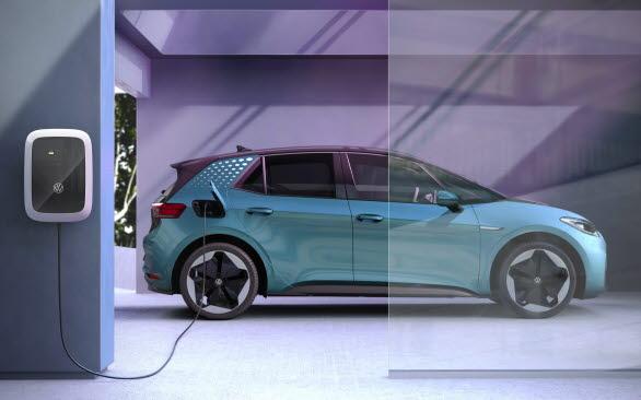 Volkswagens laddbox ID. Charger Pro kan nu beställas med avdraget för grön teknik, direkt i webbshopen.