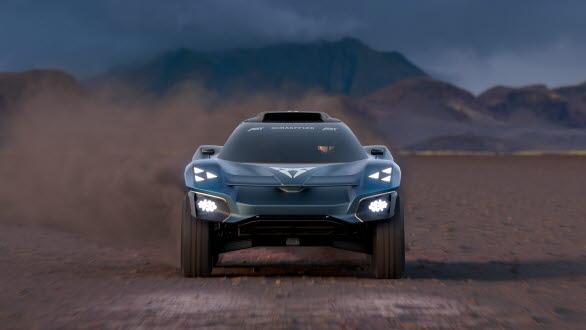 Ljusen är monterade i 3D-printade ramar, en teknik som valts för att ge CUPRA Tavascan Extreme E Concept en extra fördel i racingsammanhang.