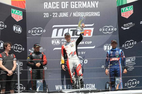 På Nürburgring tog Johan sin första WTCR-seger. Blir det en till i Portugal?