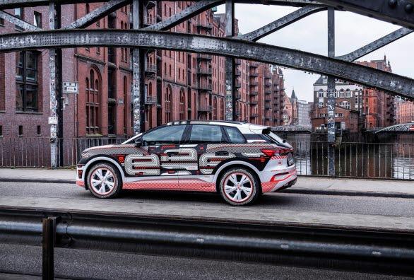 Eldrivna Audi Q4 e-tron med premiär i mitten av april
