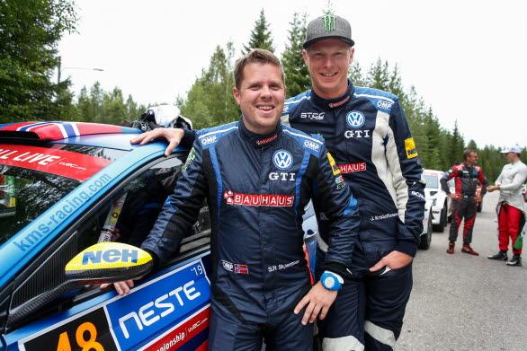 Stig Rune och Johan gjorde en utmärkt debut i Rally Finland.