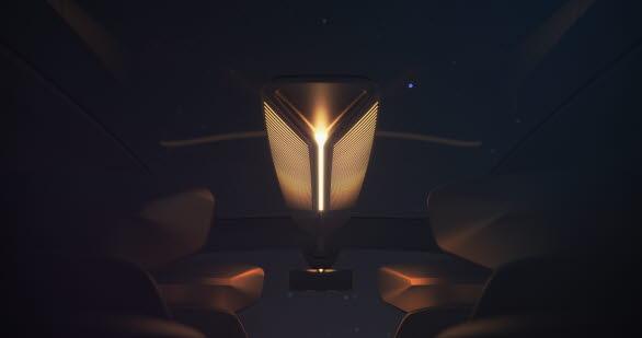 Interaktiva ljuszoner som ger passagerarna information via intuitiva ljuseffekter.
