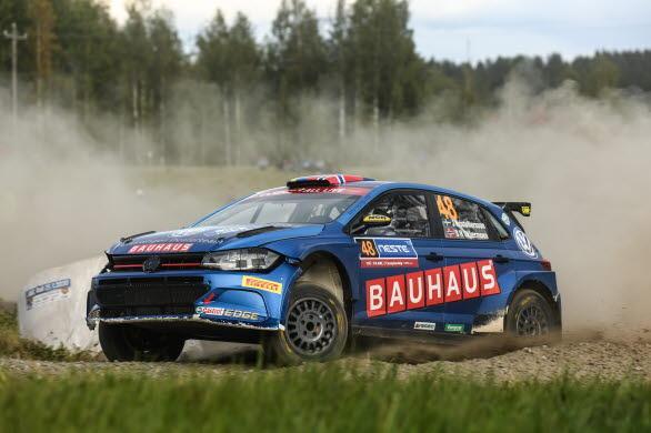 Johan Kristoffersson rattade sin Polo GTI R5 med kyla och stabilitet i Finland.