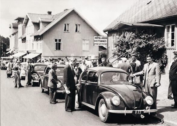 Det blev stor uppståndelse i Örkelljunga den 14 juli 1948, när de fyra första svenska Bubblorna stannade till på väg till Södertälje.