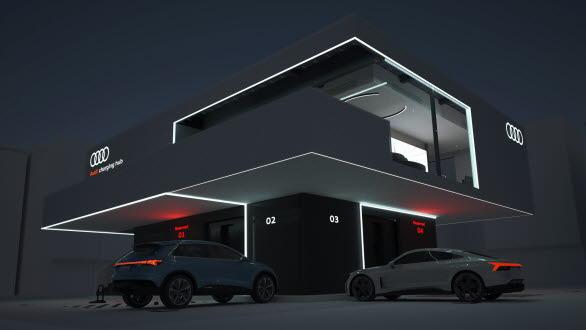 Audi testar pilotprojekt med ultrasnabb laddning vid egen hub