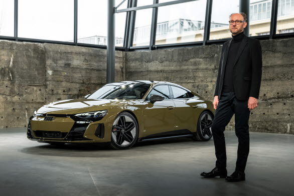 Marc Lichte, chef Audi Design. Audi RS e-tron GT i tactical green