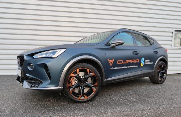 CUPRA Formentor e-Hybrid, märkets  första exklusivt designade och utvecklade modell med en elektrifierad drivlina, blir partnerskapets officiella bil.