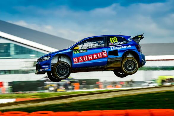 Sondre Evjen hoppas kunna flyga fram på Höljes-banan i Volkswagen Dealerteam BAUHAUS' Polo GTI RX.
