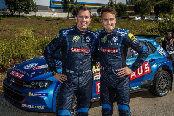 Det blev ett dramatiskt slut på Rally Portugal för Jonas och Ole Christian, men brandincidenten slutade lyckligtvis utan skador.