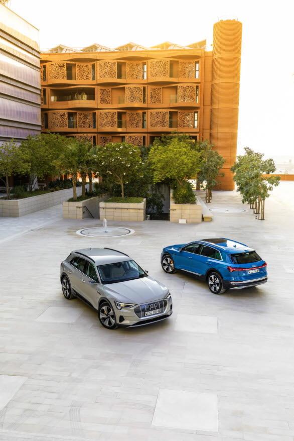 Audi e-tron i Masdar City