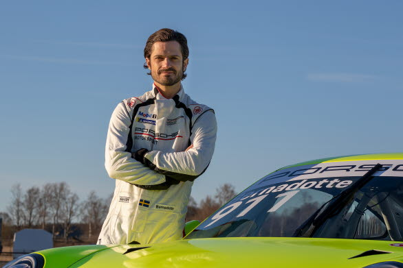 """Prince Carl Philip of Sweden is competing in Kanonloppet (""""The Cannon Race"""") as a guest driver in Porsche Carrera Cup Scandinavia."""