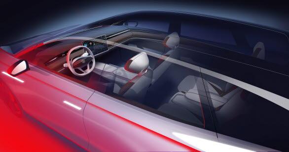 Invändigt är det fokus på intuitiv användbarhet genom en helt digitaliserad cockpit.