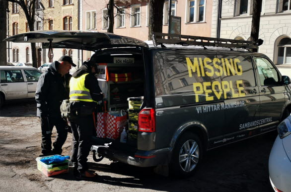 Volkswagen transportbilar stödjer Missing people