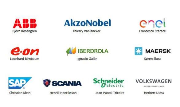 "De tio företagsledarna Björn Rosengren (ABB), Thierry Vanlancker (AkzoNobel), Francesco Starace (ENEL), Leonhard Birnbaum (E.ON), Ignacio Galán (Iberdrola), Søren Skou (Maersk), Christian Klein (SAP), Henrik Henriksson (Scania), Jean-Pascale Tricoire (Schneider Electric) och Herbert Diess (Volkswagen AG) är medlemmar i ""CEO Alliance for Europe's Recovery, Reform and Resilience""."