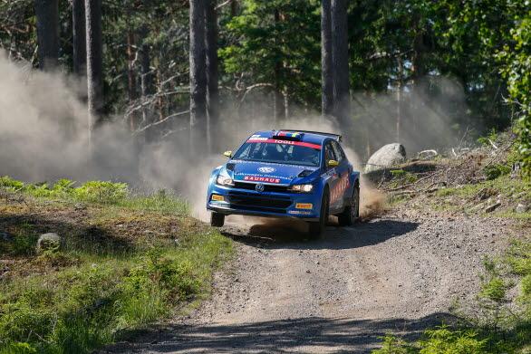 Johan Kristoffersson gör debut i Rally Finland med sin Volkswagen Polo GTI R5.