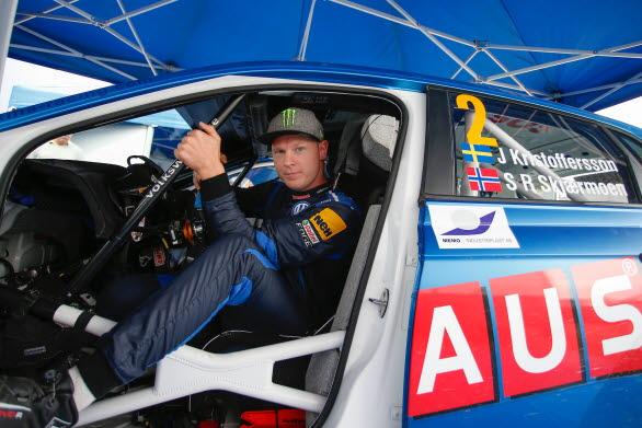 Johan Kristoffersson är redo för att ta sikte på sin tredje SM--seger i rally den här säsongen.