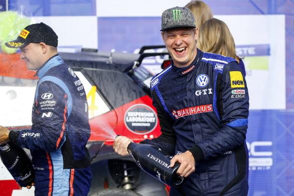 Johan Kristoffersson fick än en gång kliva upp på pallen i WRC 2 efter att ha slutat trea i Rally Finland.