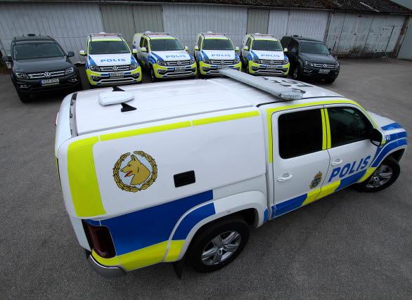 Nu har de första sju polis-Amarokerna påbörjat sin tjänstgöring.