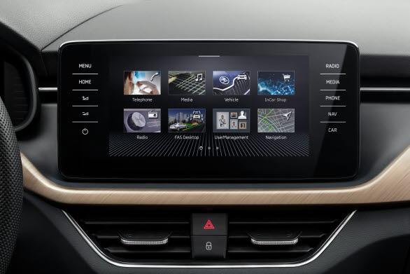ŠKODA SCALA är först ut med VW-koncernens senaste generation av infotainmentsystem